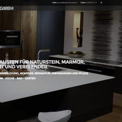 Webdesign und Online Marketing Agentur für SEFO GmbH Natursteine Luzern