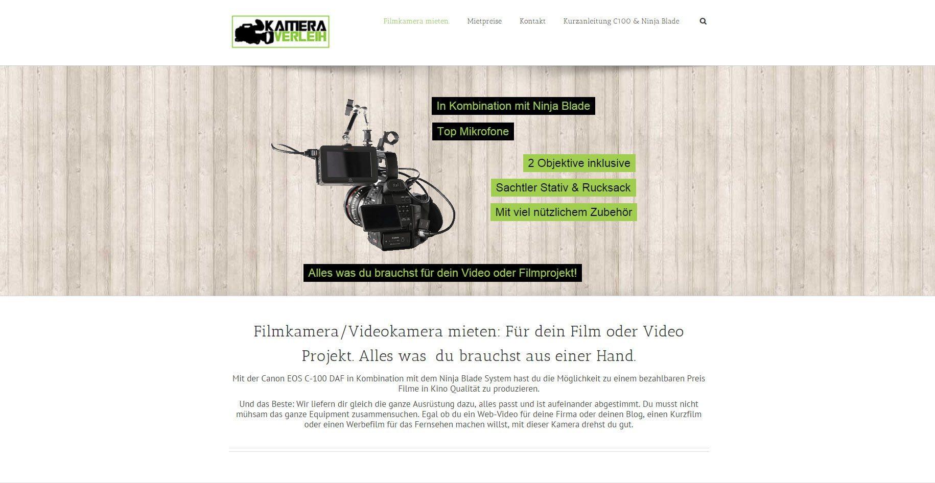 Kamera-Verleih: Filmequipment