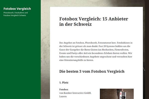 Fotobox-Vergleich
