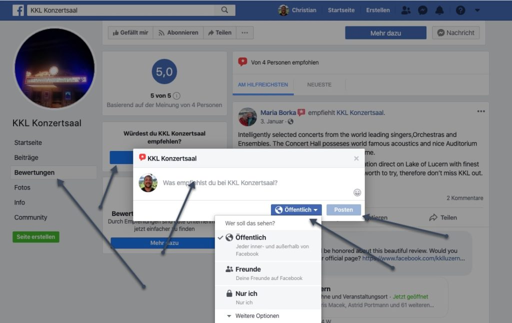 facebook empfehlung anleitung