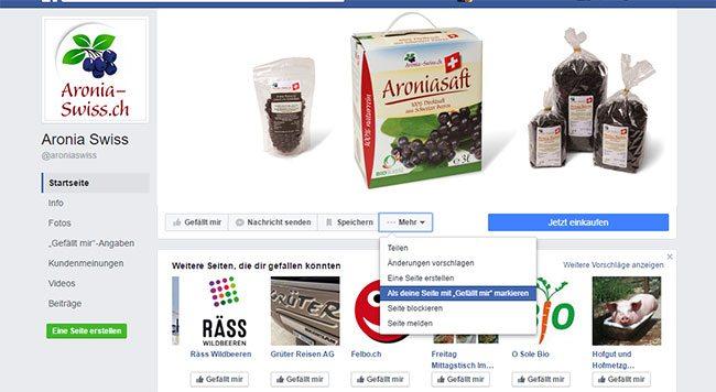 Social Media: Bei Facebook mit Firmenseite andere Firmenseite liken