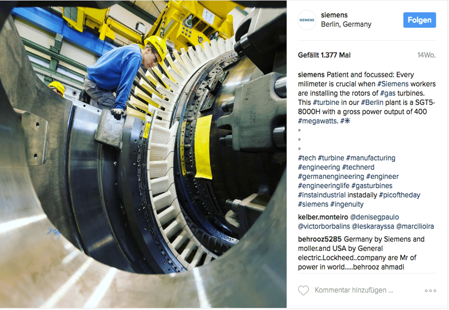 Siemens Post Instagram