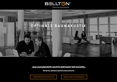 Wir sind die Online Marketing Agentur für die Firma Bellton - Optimale Raumakustik.