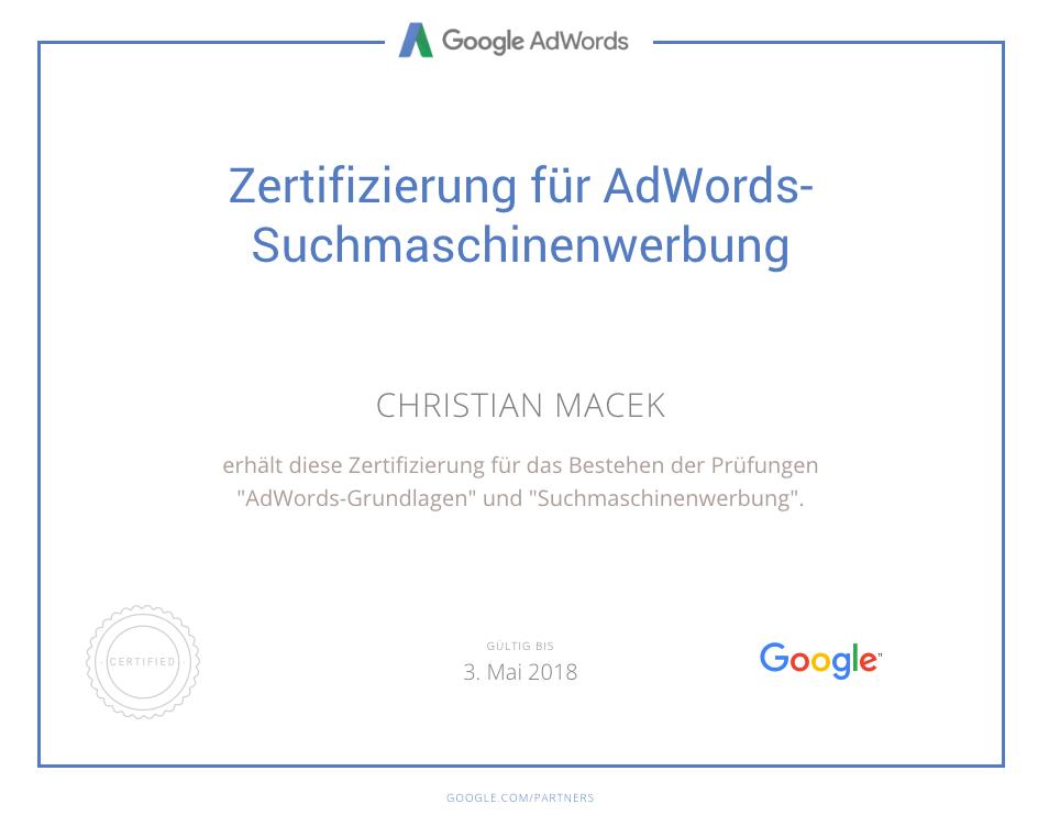 google-zertifizierung seo und online marketing agentur