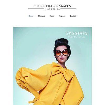 Die neue Webseite von Marc Hossmann Hairdesign Stans