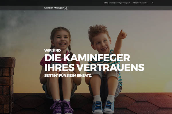 Webdesign, SEO & Online Marketing: Kaminfeger Luzern