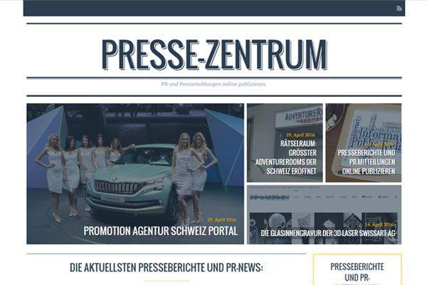 Presse-Zentrum PR online publizieren