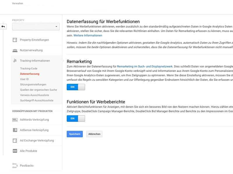 google remarketing / retargeting anleitung einstellung tracking code