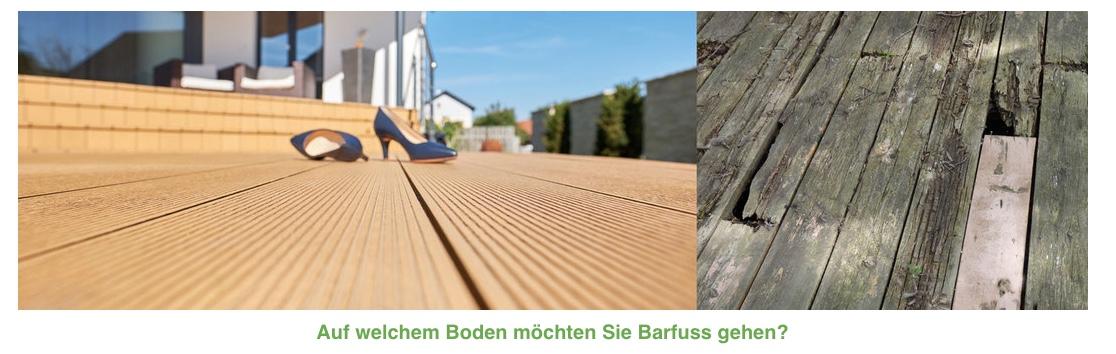 naturholz vs wpc terrassenboden vergleich