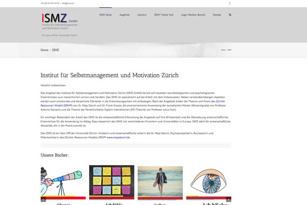 Neue Webseiten Zürcher Ressourcen Modell ZRM & ISMZ
