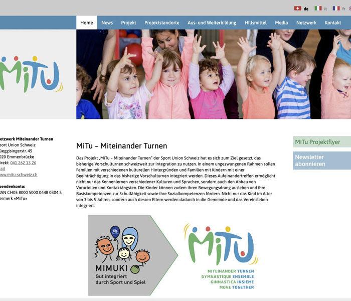 SEO Agentur für MiTu – Miteinander Turnen – Sportunion Schweiz