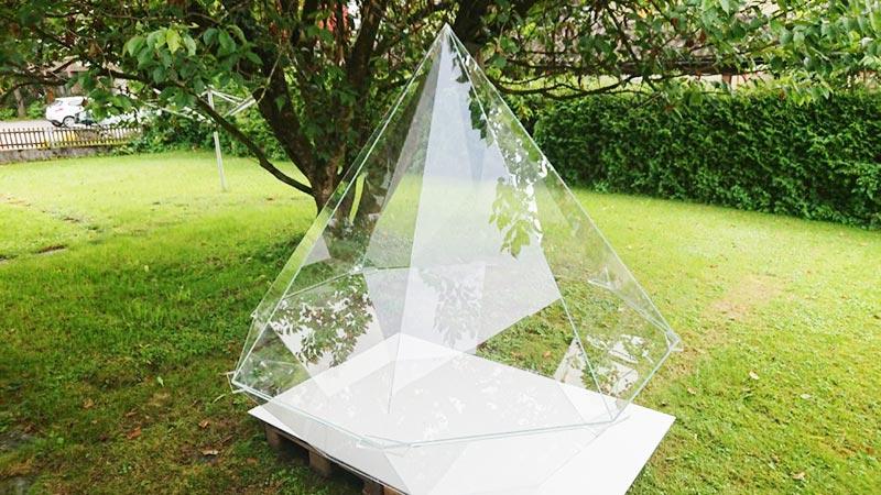 Diamant aus Plexiglas, Acrylglas