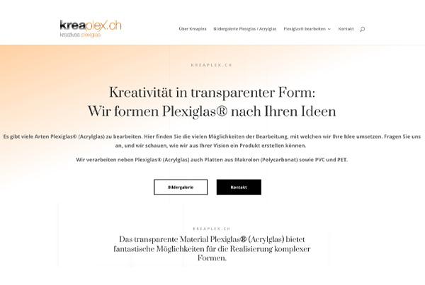 Webdesign, SEO und SEA für kreaplex.ch – Bearbeitung von Plexiglas® bzw. Acrylglas