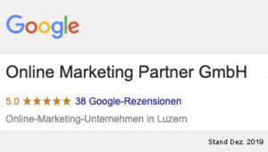 google bewertung beste seo und online marketing agentur luzern
