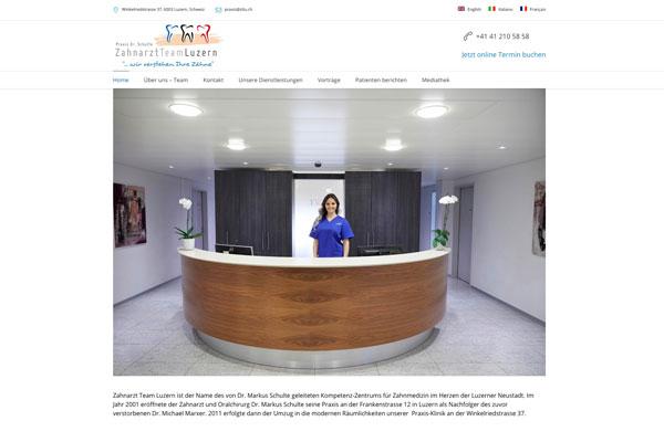 Webdesign, SEO, SEA für Zahnarzt Team Luzern