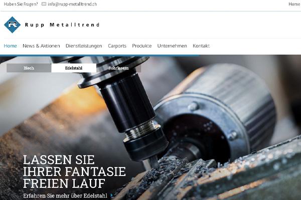 SEO und SEA für rupp-metalltrend.ch – Metallbauer aus Fahrwangen