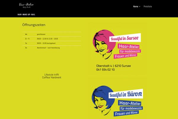 Neue Webseite Coiffeur Sursee.